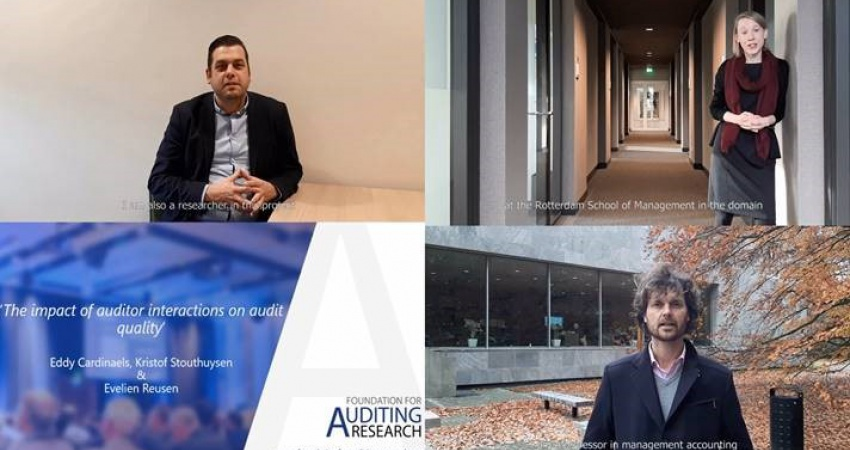 "Online Masterclass by Prof. dr. Eddy Cardinaels and Kristof Stouthuysen on ""The impact of auditor interactions on audit quality"" on 5 June 2020"