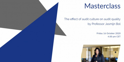 "Online FAR Masterclass by Prof. Jasmijn Bol on ""The effect of audit culture on audit quality"""